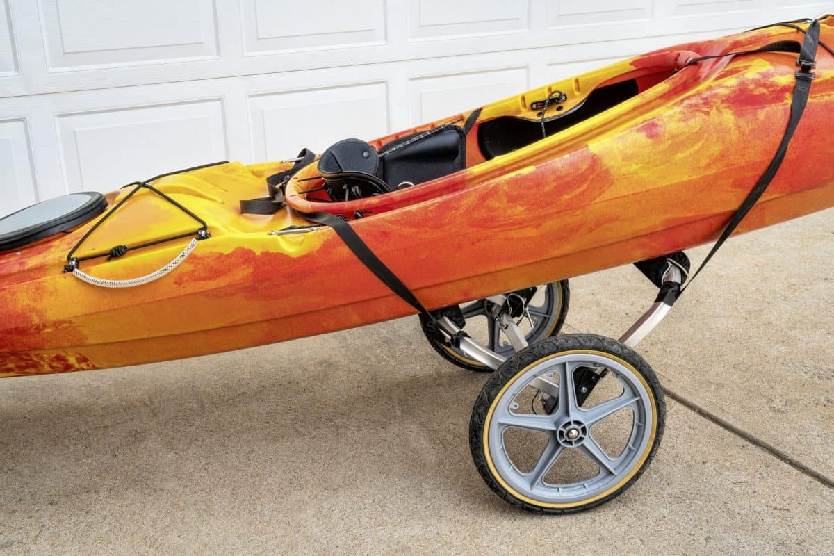 kayak on a cart
