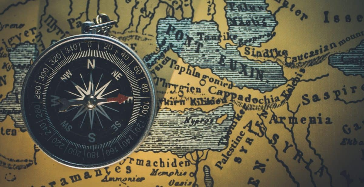 Marine Map and compass
