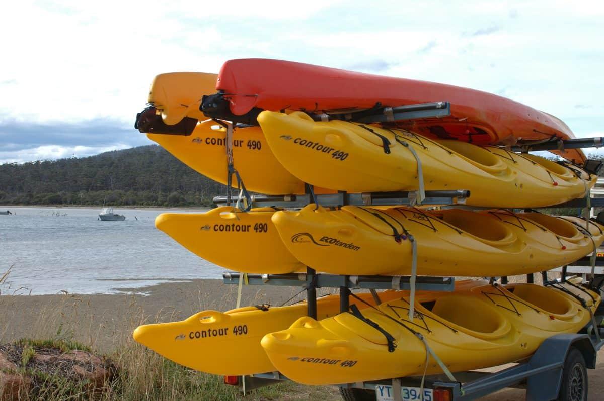 Canoe storage on Lake