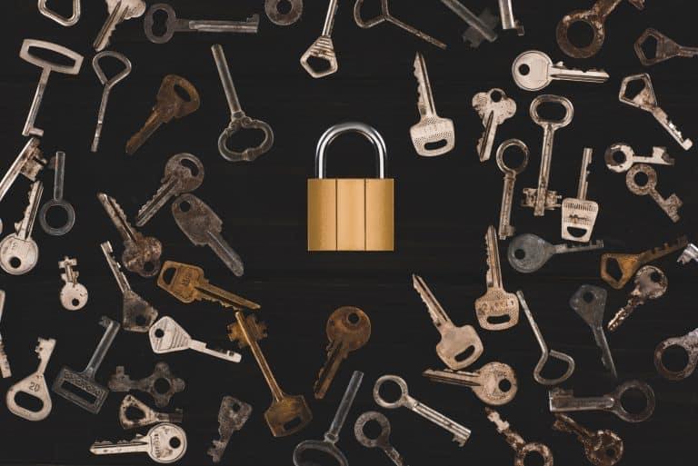 Kayak Security - Collection of Keys and padlock