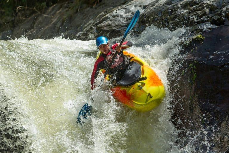 Waterfall Kayak Jump - Kayaking is good exercise