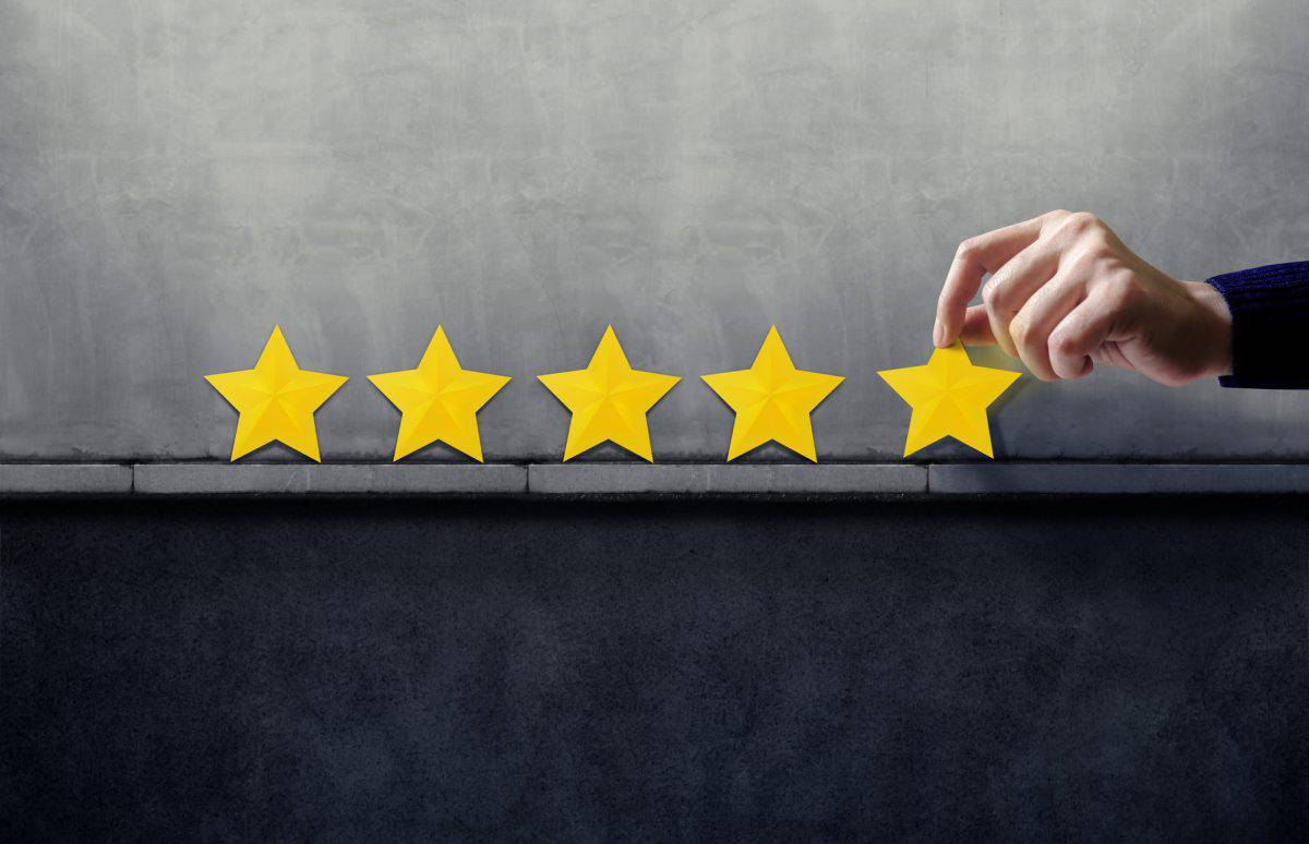 Happy Client giving Five Star Rating