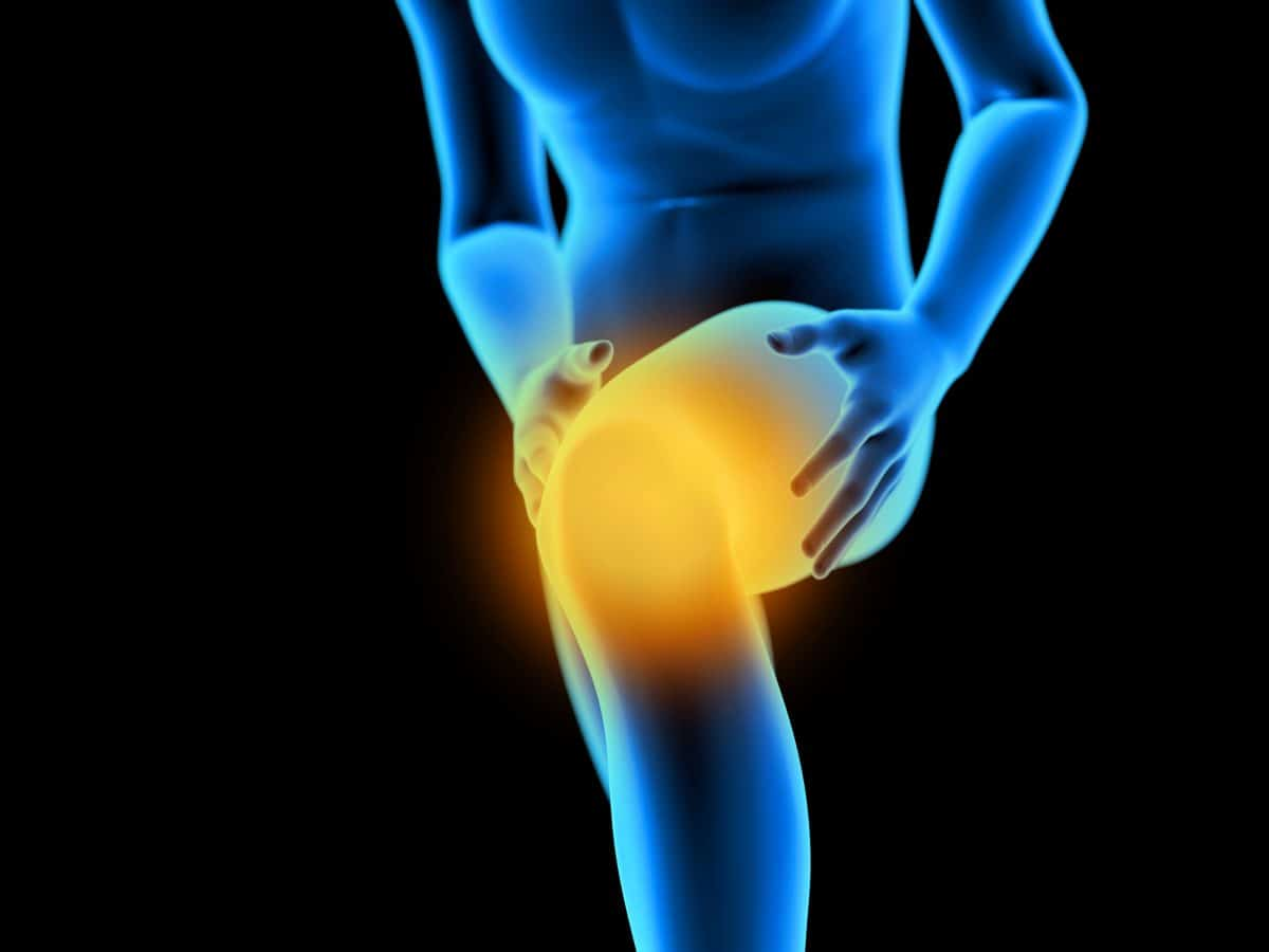 3d rendered medically accurate illustration of a man having a painful knee.