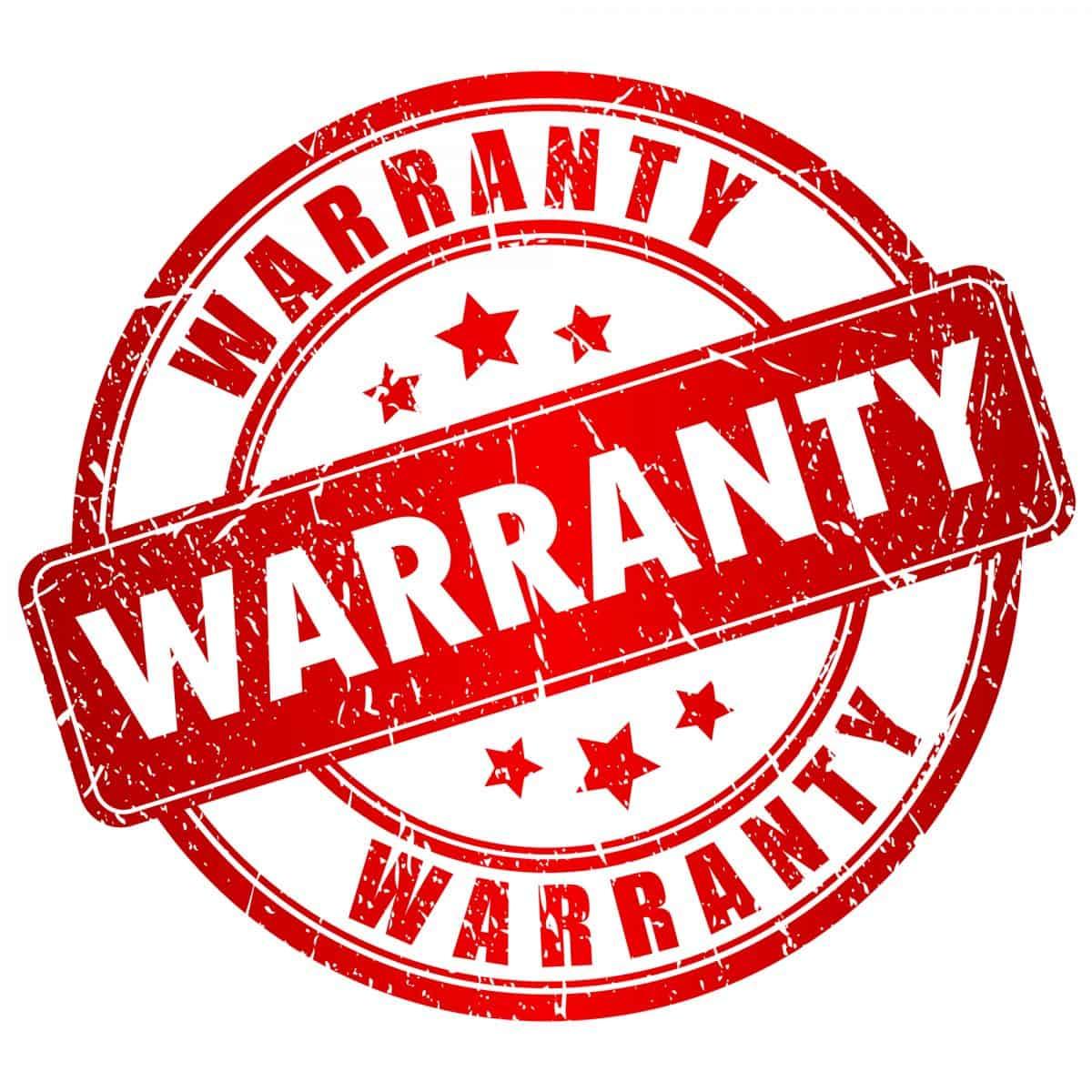 Warranty vector stamp