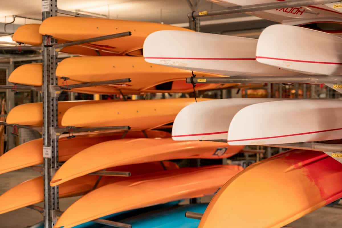 How to store a kayak on a rack