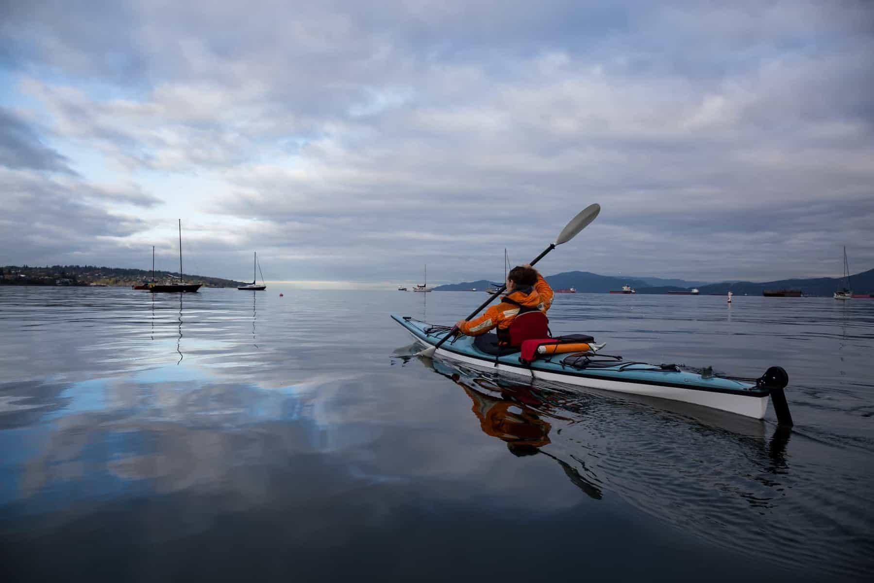 Ocean kayak with kayak rudder