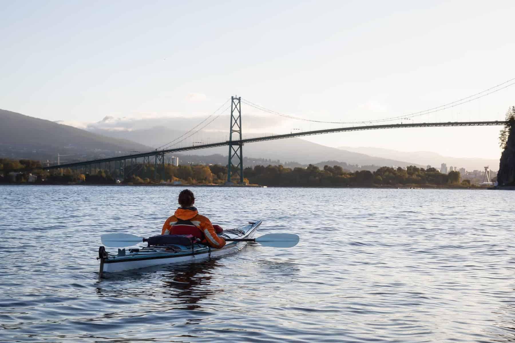 sea kayaking with a kayak rudder