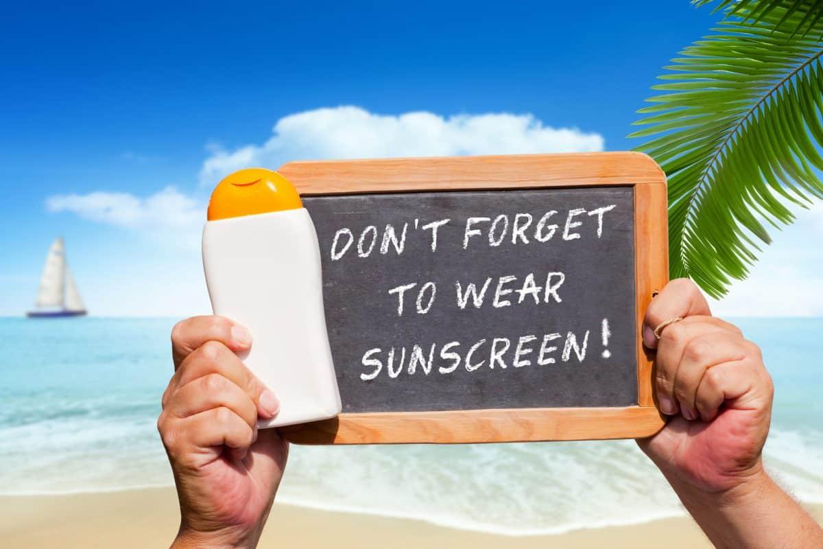 canoe sun shade canopy - always wear sun screen sing