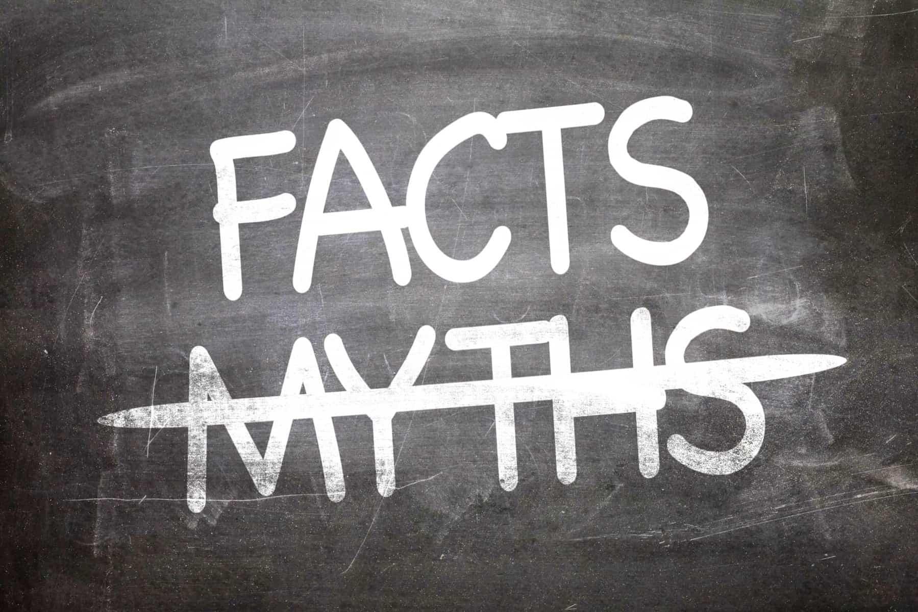 'kayaking myths' written on chalk board