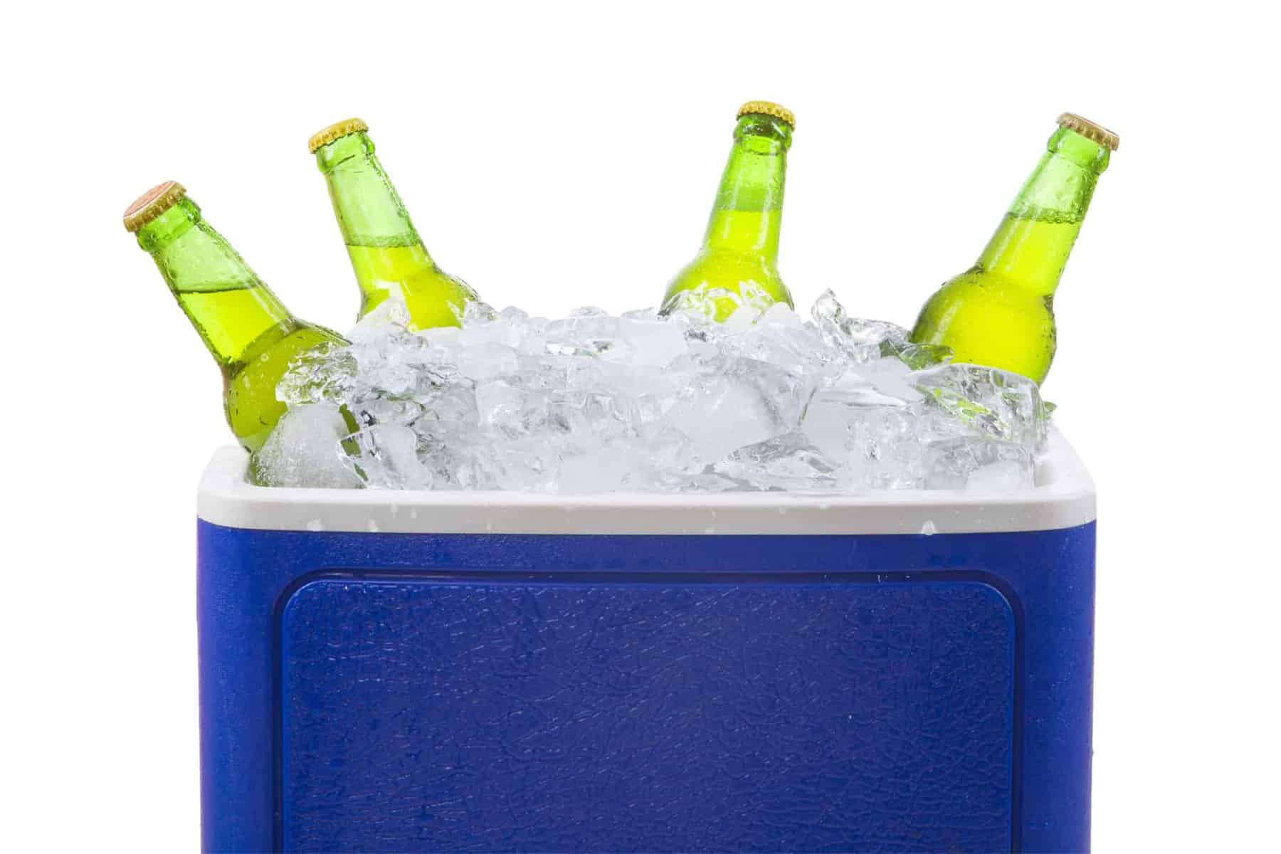Cooler full of Ice with beer