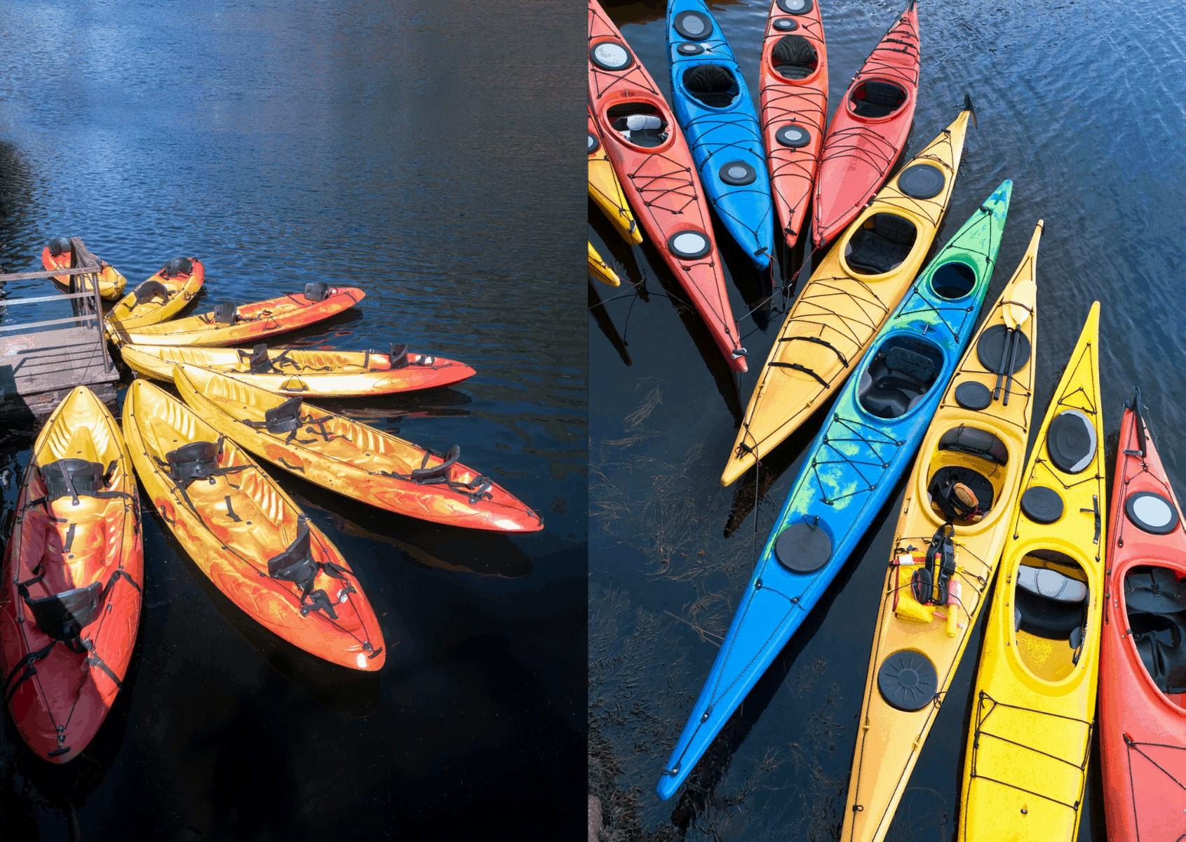 sit on versus sit in kayaks