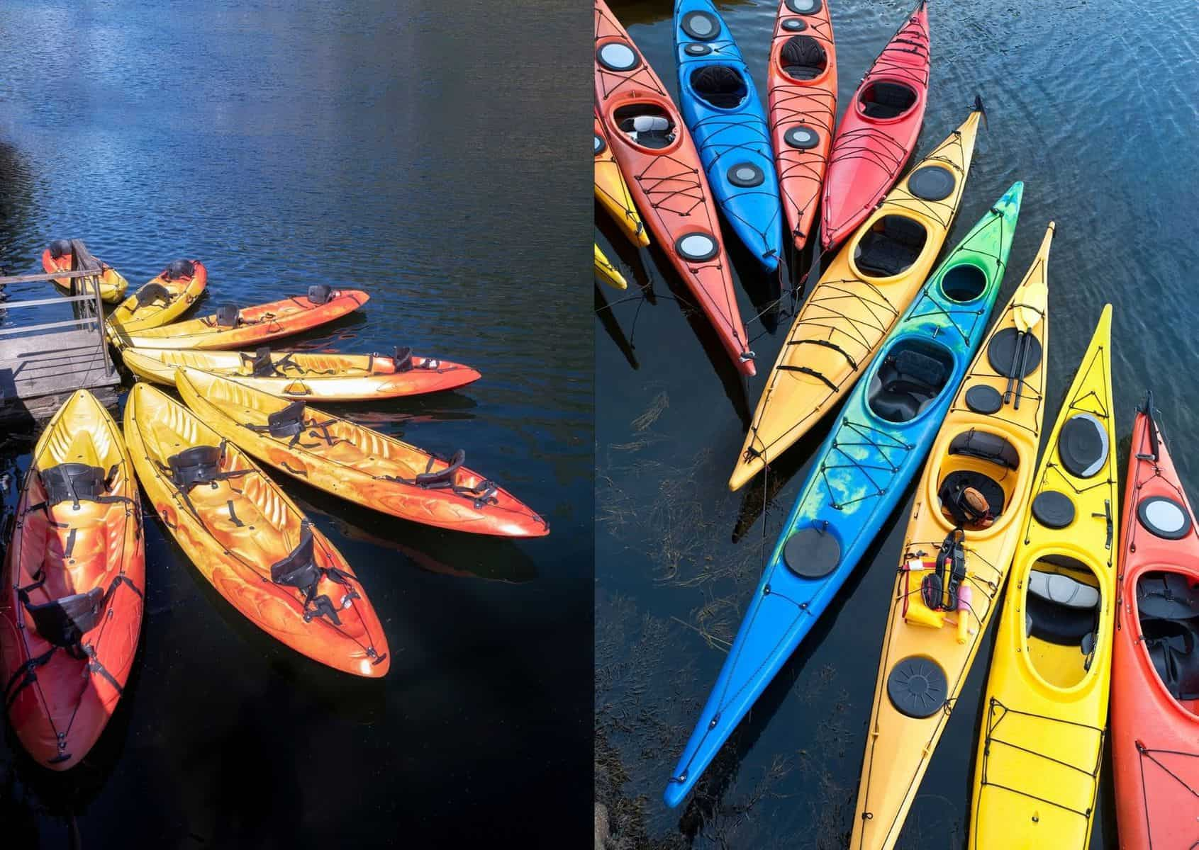 sit on versus sit in kayaks