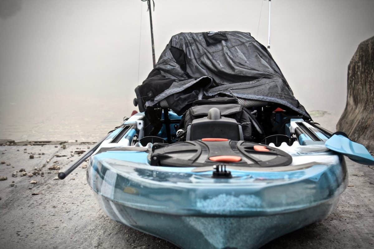 Weathered blue Kayak requires painting