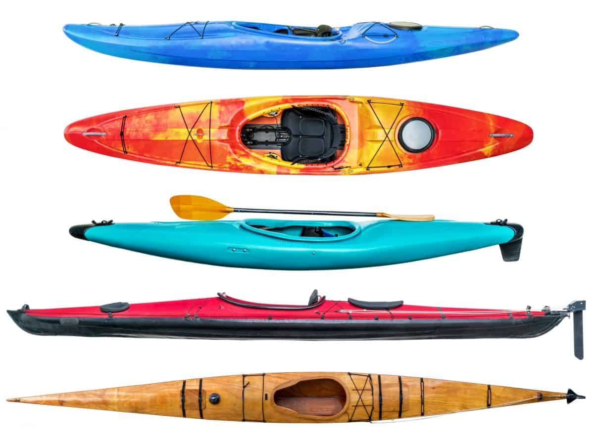 Collection of different kayak - Best Material For A Kayak?