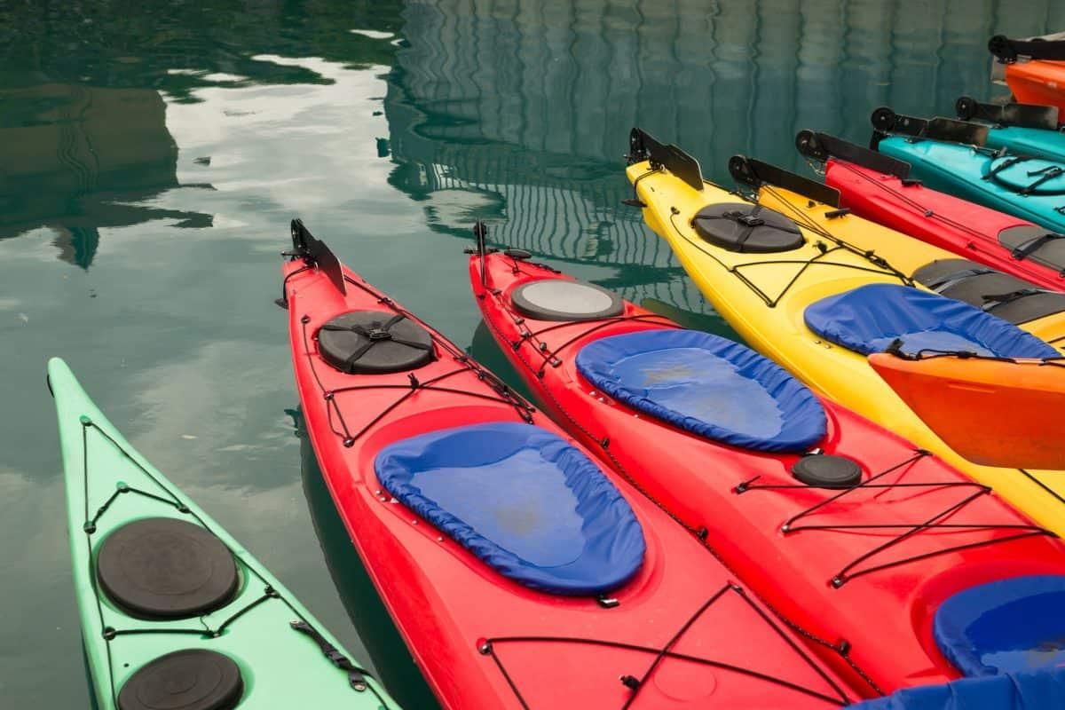 9 kayaks made from polyethylene plastic