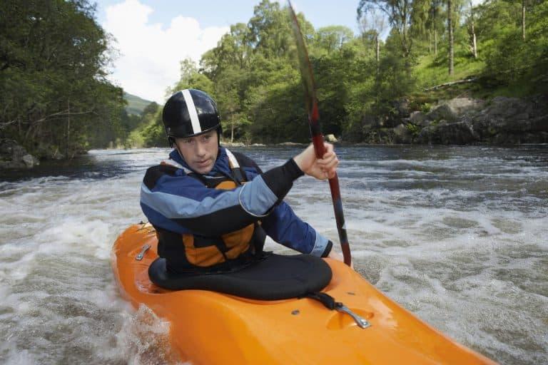 upstream kayaking