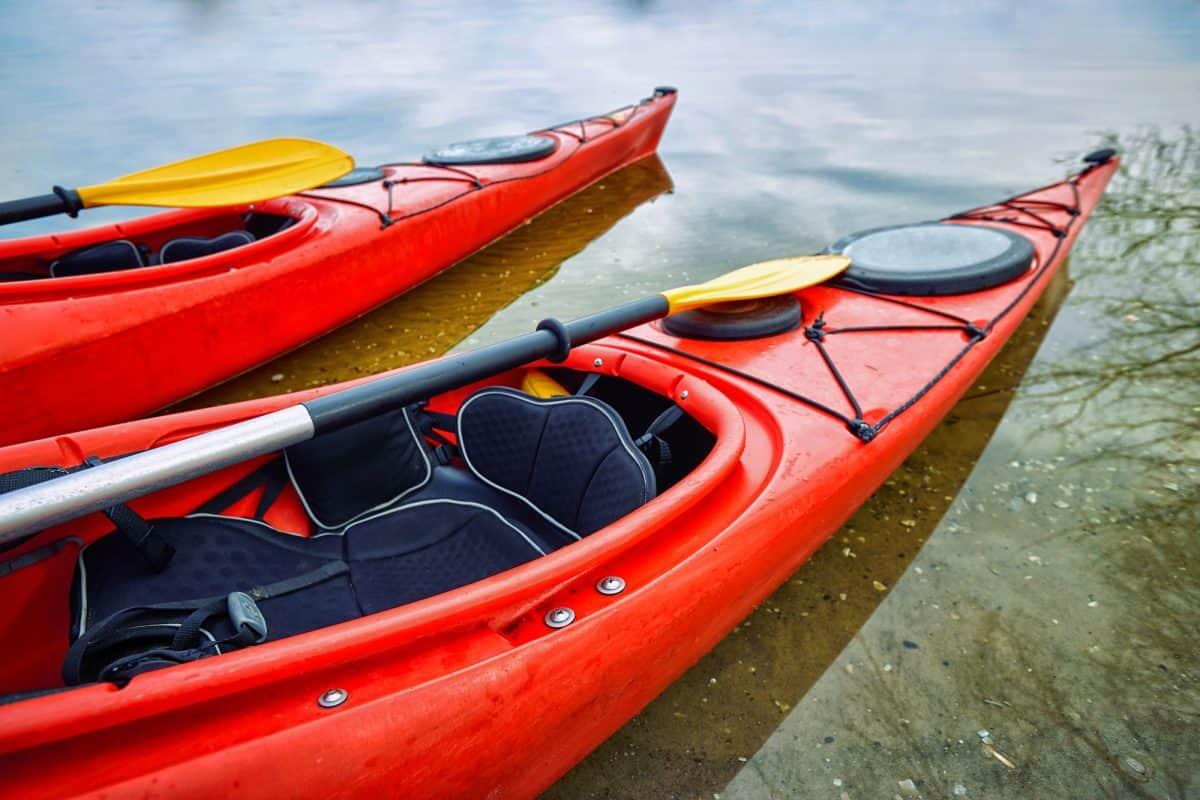 2 red best ocean kayak for beginners