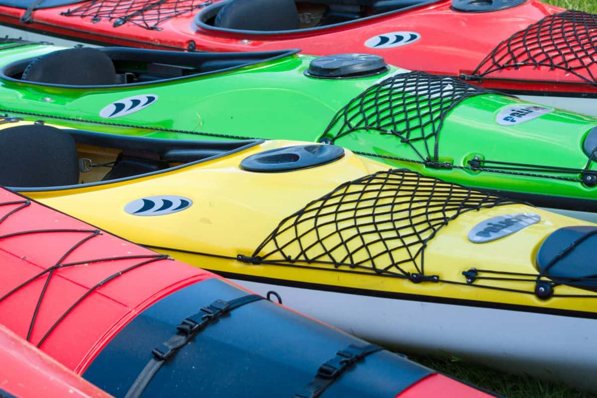 Collection of different kayak materials