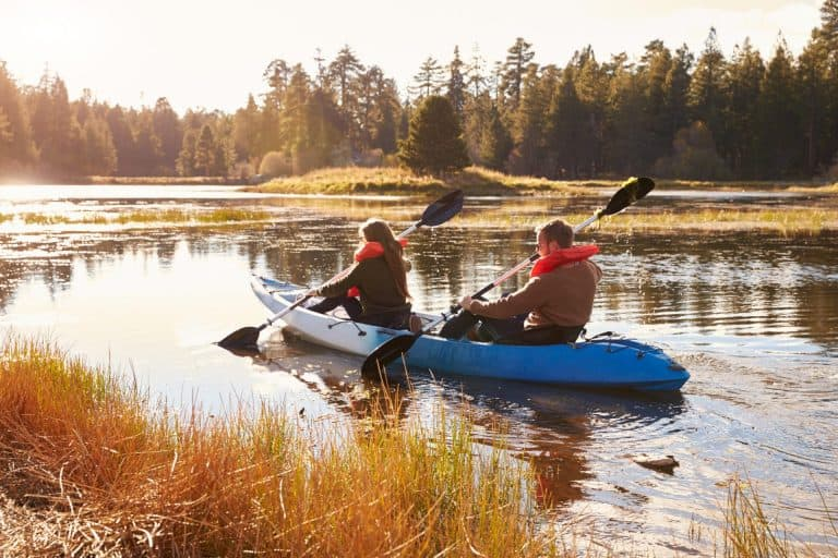 Couple in Budget Kayak