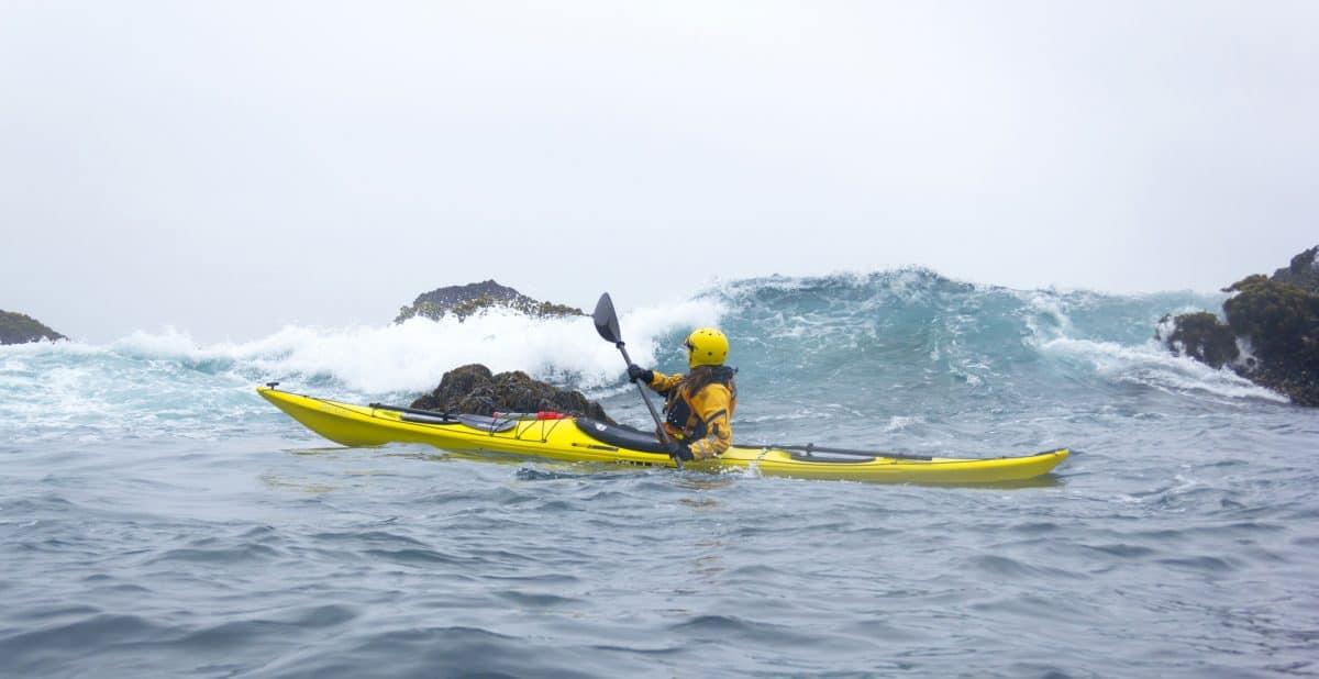 Dangers Of Kayak Touring - kayaker in rough water