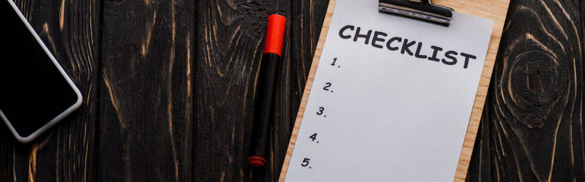 Graphic of a check list