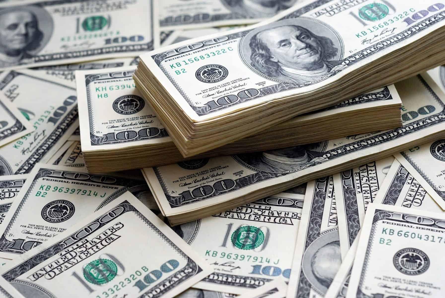 Kayak prices - Dollar bank note money background