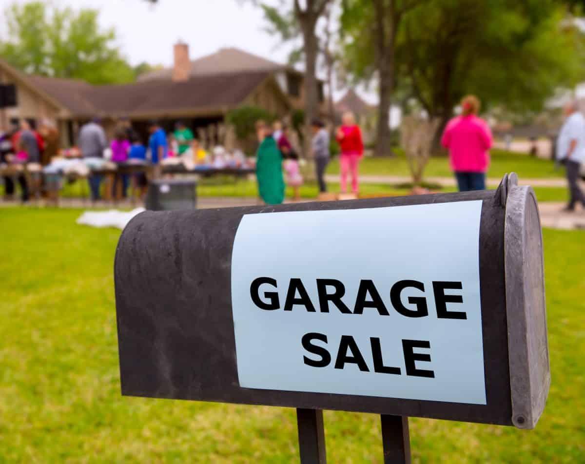 Garage sale in an american
