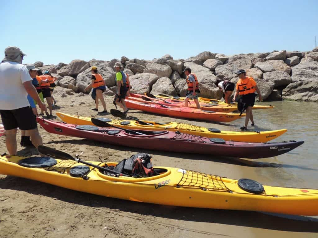 Kayaker taking a lesson at a Kayaking Club