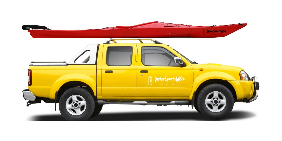 Kayak on Truck Roof Rack