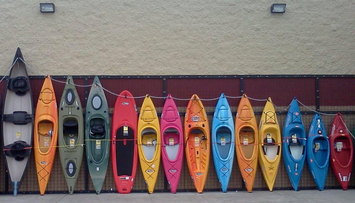 Selection of beginner kayaks