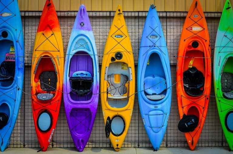 Bright collection of beginner kayaks