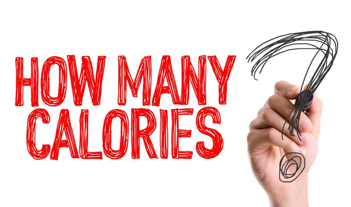 Hand with marker writing the words - How many Calories