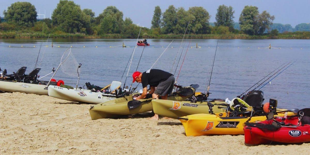 Fishing Kayaks on shore