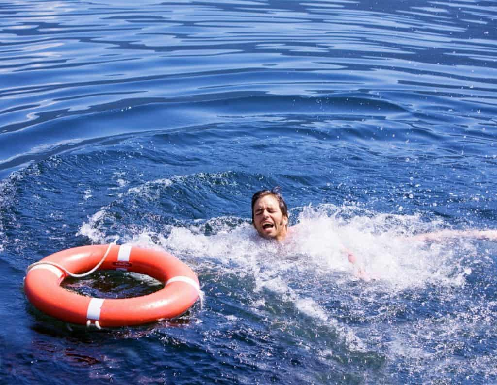 Drowning Man with Life Ring