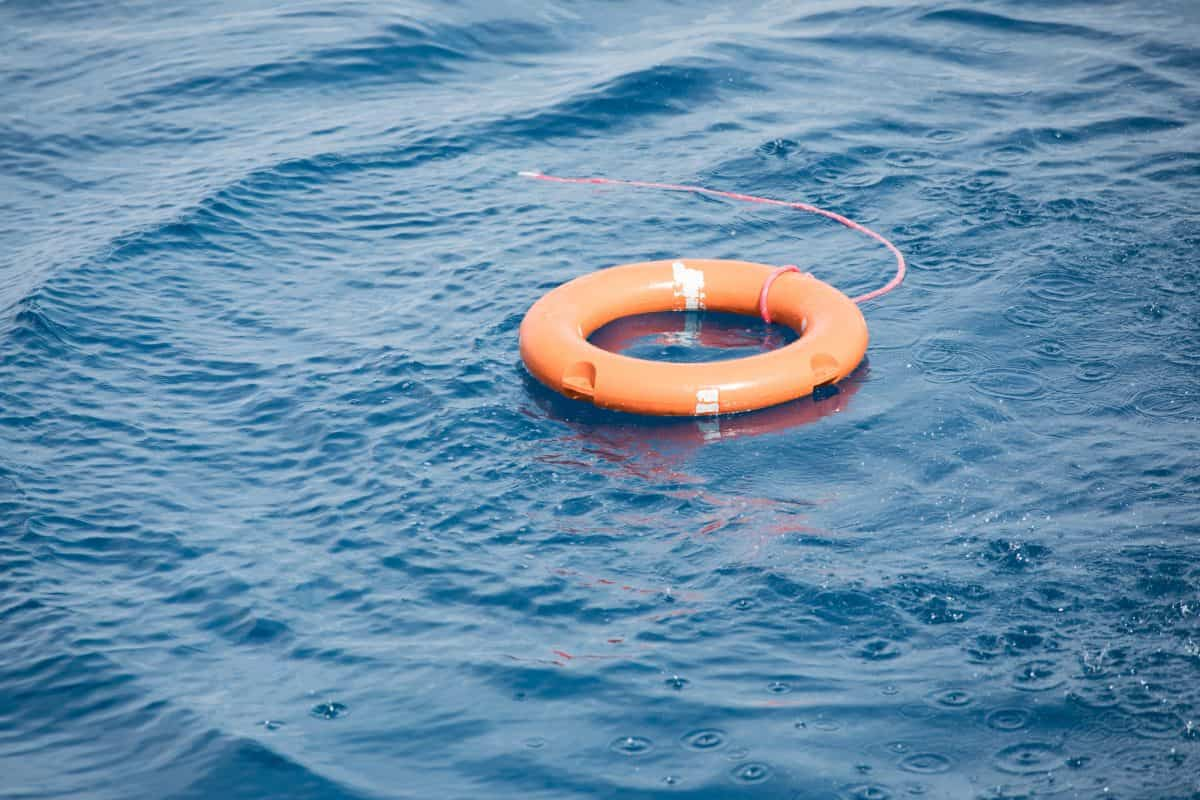 Lifebuoy in the sea