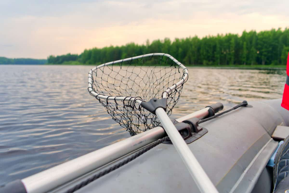 Fishing on an inflatable boat
